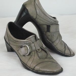 "Josef Seibel size 9 (40) grey leather 3"" heel"